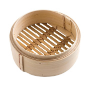Chinese Characteristics Natural Environmental Protection Bamboo Dumplings Steamer Pure Hand Steamer 7 Inches 17.8CM A Drawer Cover