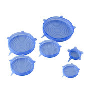 JETTINGBUY 6PCS Silicone Stretch Lids,Reusable,Durable and Expandable to Fit Various Sizes and Shapes of Containers