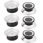 DealMux Metal Household Round Frying Pan Pot Lid Cover Knob Cap Handgrip Handle 6pcs