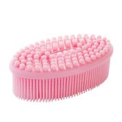 Silicone Body Bath Brush, Body Wash Scrub Exfoliator Brush, Soft Loofah Body Scrubber Scalp Massaging Skin Exfoliation for Daily Use Women Men Newborns
