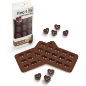 Sorbus® Heart Shaped Silicone Mould for Chocolate, Jelly and Candy - 15-piece Per Mould