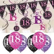 18th Birthday Decorations Pink