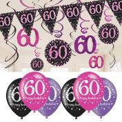 60th Birthday Decorations Pink