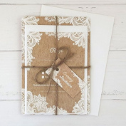 Rustic Lace Pattern - Evening Invitations & RSVP - Pack of 10