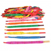 TOOGOO(R) 100 x Assorted Colours Long Rocket Balloons with Tube Party Fillers Fun Toys Kids