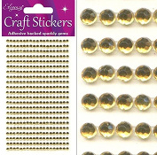 Eleganza Craft Stickers Sparkly Gems 3mm 418 gems Gold No35