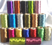 20 Metallic Embroidery Machine Thread Spools, 20 different colour 400 YARDS EACH, High Quality