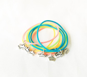 10x Girls PRINCESS Bracelets Party Bag Fillers Gifts At Dawn