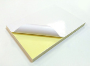 100 Sheets A4 White GLOSSY Self Adhesive / Sticky Back Label Printing Paper Sheet