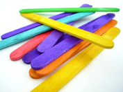 SG Education RAY 6121649 Rayher Wooden Lollipop Stick, Assorted, 150 mm Length, 20 mm Width