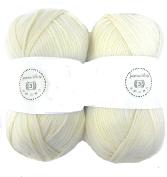 Jasmine White House of Cecilia 2 x 100g balls 100% acrylic knitting yarn crochet crafts