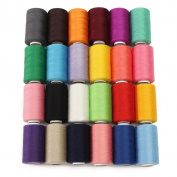 24 Assorted Colours Polyester Sewing Thread Spool 1000 Yards Each