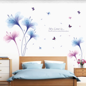 Wall Sticker, Chshe Orchid DIY Removable Wall Decal Family Home Sticker Mural Art Home Decor for Living Room Bedroom TV Background Wall