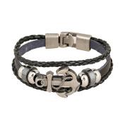 Vintage Charm Multilayer Woven Wrap Adjustable Leather Bracelet Unisex Fashion Jewellery