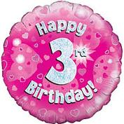 Happy 3rd Birthday Balloon Girls