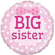 "Big Sister Round Foil Balloon 46cm (18"") New Baby"