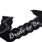 YOUBETTER Black Lace Bride to Be Sash Hen Night DO Bachelorette Bridal Shower Party