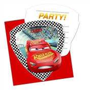 Qualatex 62810 Disney Cars 3 Die-Cut Party Invitations and Envelopes