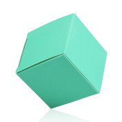 vLoveLife 5cm*5cm*5cm Teal Blue Square Cute Gift Boxes Candy Boxes Anti-Scratch Kraft Paper Wedding Party Favour Box - Pack Of 50