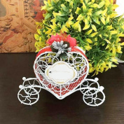 Gemini_mall® Cute Heart Carriage Candy Chocolate Boxes Birthday Wedding Party Favour Decoration