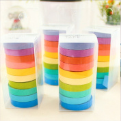 Jooks DIY Decorative Rainbow Paper Tape Sticky Paper Masking Adhesive Tape Scrapbooking
