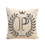 Indexp 26 Letters Printing Festival Throw Cushion Cover Sofa Home Decoration Pillow case