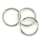 50 PC Nickel Split Key Rings