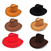 LUOEM Child Cowboy Hat for Birthday Festival Party Favour 6pcs