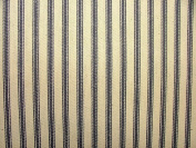 1m Blue And Cream COTTON CANVAS French Ticking Fabric Extra Wide Width 214cm
