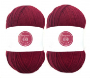 Pomegranate House of Cecilia 2 x 100g balls 100% acrylic knitting yarn crochet crafts