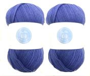 Sky Blue House of Cecilia 2 x 100g balls 100% acrylic knitting yarn crochet crafts