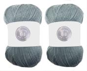 Steel Grey House of Cecilia 2 x 100g balls 100% acrylic knitting yarn crochet crafts