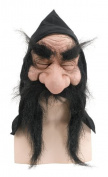 Gnome Mask With Hood And Beard Fairy Tale Elf Troll Halloween Fancy Dress