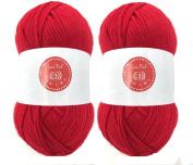 Love Red House of Cecilia 2 x 100g balls 100% acrylic knitting yarn crochet crafts