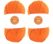 Seville Orange House of Cecilia 2 x 100g balls 100% acrylic knitting yarn crochet crafts