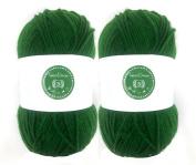 Laurel Green House of Cecilia 2 x 100g balls 100% acrylic knitting yarn crochet crafts