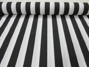Black White Striped Fabric - Stripes Curtain Upholstery Material 140cm wide