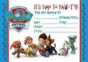 PAW PATROL CHILDRENS BIRTHDAY PARTY INVITES INVITATIONS X 10 PACK WITH ENVELOPES