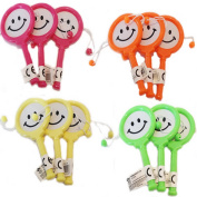 12 Pack of Mini Smiley Hand Drum Birthday Party Bag Fillers Toys Loot Bag Pinata Stocking Fillers