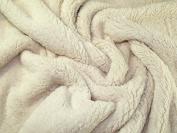 Supersoft Plain Lambskin Sherpa Fleece Fabric Cream - per metre