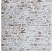 """BEIGE STONE WALL brick wall Print Curtain Upholstery Cotton Fabric Material - 55""""/140cm wide - BEIGE sold by the Metre"""