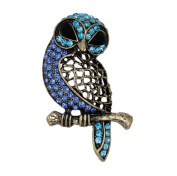 Hosaire Stylish Elegant Owl Diamond Wedding Bridal Pin Brooches For Women Girls Jewellery