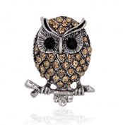 Hosaire Stylish Elegant OwlDiamond Wedding Bridal Pin Brooches For Women Girls Jewellery