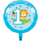 "One Is Fun Boy 17"" 43cm Foil Balloon. 317019. 1st Birthday Party Balloon"
