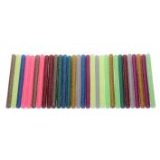 MultiWare Pack Of 30 Glitter Hot Melt Glue Sticks 100 x 7mm