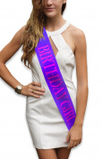 """Birthday Girl"" Purple Glitter Sash – Happy Birthday Party Favours, Supplies and Decorations – Sweet 16 - 21st Birthday - Funny Birthday"
