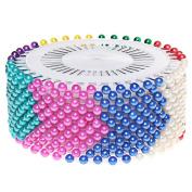 Head pins, Sicai 480 Pcs Colours Round Pearl Straight Head Pins Dressmaking Sewing Pins