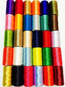 30 x Large Art Silk Rayon Sewing Embroidery Threads Spools New Assorted Colours