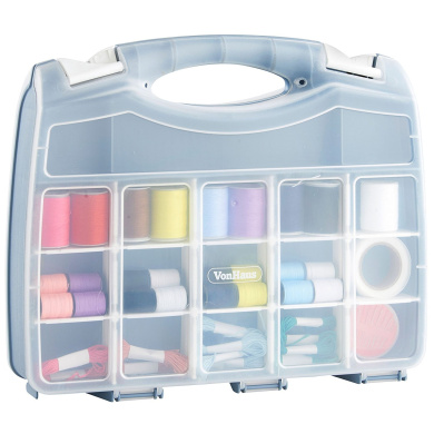 VonHaus 37cm 2-Sided Bits Organiser Storage Carry Case - 36 Compartments - Crafts / Arts / Sewing / Accessories / DIY / Tools / Fishing / Angler / Hooks / Tackle / Bait / Lures Float