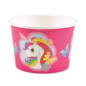Amscan International 9902370 251 ml Unicorn Paper Treat/Ice Cream Cups